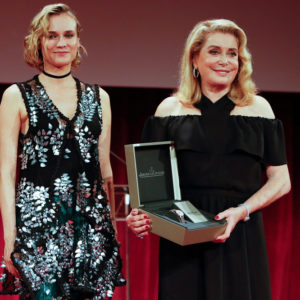 Diane Kruger and Catherine Deneuve at the Jaeger-LeCoultre Gala Dinner during the 74th Venice International Film Festival at Arsenale