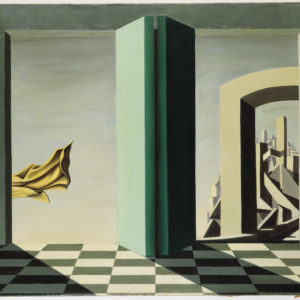 Kay Sage, American, 1898–1963 The Upper Side of the Sky, 1944 Oil on canvas, 58.4 x 71.4 cm The Vera and Arturo Schwarz Collection of Dada and Surrealist Art in the Israel Museum B98.0570