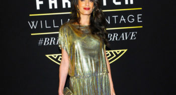 LOS ANGELES, CA - OCTOBER 05:  Amal Clooney at Farfetch and William Vintage Celebrate Gianni Versace Archive hosted by Elizabeth Stewart and William Banks-Blaney on October 5, 2017 in Los Angeles, California.  (Photo by John Sciulli/Getty Images for Farfetch)