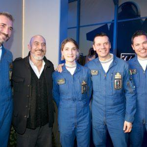 Aeronautica Militare - da sx Maggiore Getano Farina, Roberto Ciufoli, Tenente Liberata Daniello, T. Col. Mirco Caffelli, Capitano Mattia Bortoluzzi