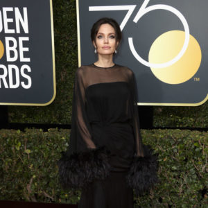 BEVERLY HILLS, CA - JANUARY 07:  Angelina Jolie attends The 75th Annual Golden Globe Awards at The Beverly Hilton Hotel on January 7, 2018 in Beverly Hills, California.  (Photo by Frederick M. Brown/Getty Images)