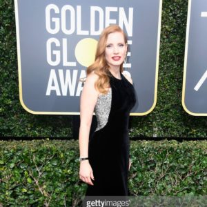 Jessica Chastain attends The 75th Annual Golden Globe Awards at The Beverly Hilton Hotel on January 7, 2018 in Beverly Hills, California.
