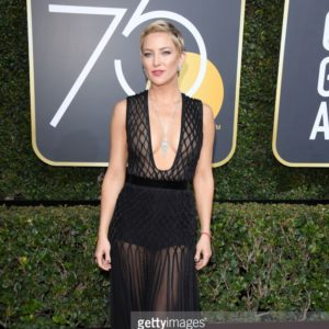 Kate Hudson attends The 75th Annual Golden Globe Awards at The Beverly Hilton Hotel on January 7, 2018 in Beverly Hills, California.