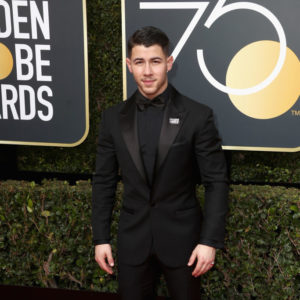 BEVERLY HILLS, CA - JANUARY 07: Nick Jonas attends The 75th Annual Golden Globe Awards at The Beverly Hilton Hotel on January 7, 2018 in Beverly Hills, California.  (Photo by Frederick M. Brown/Getty Images)