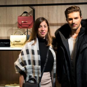 Gian Maria Sainato con Elisa Dahan, creative director di Mackage