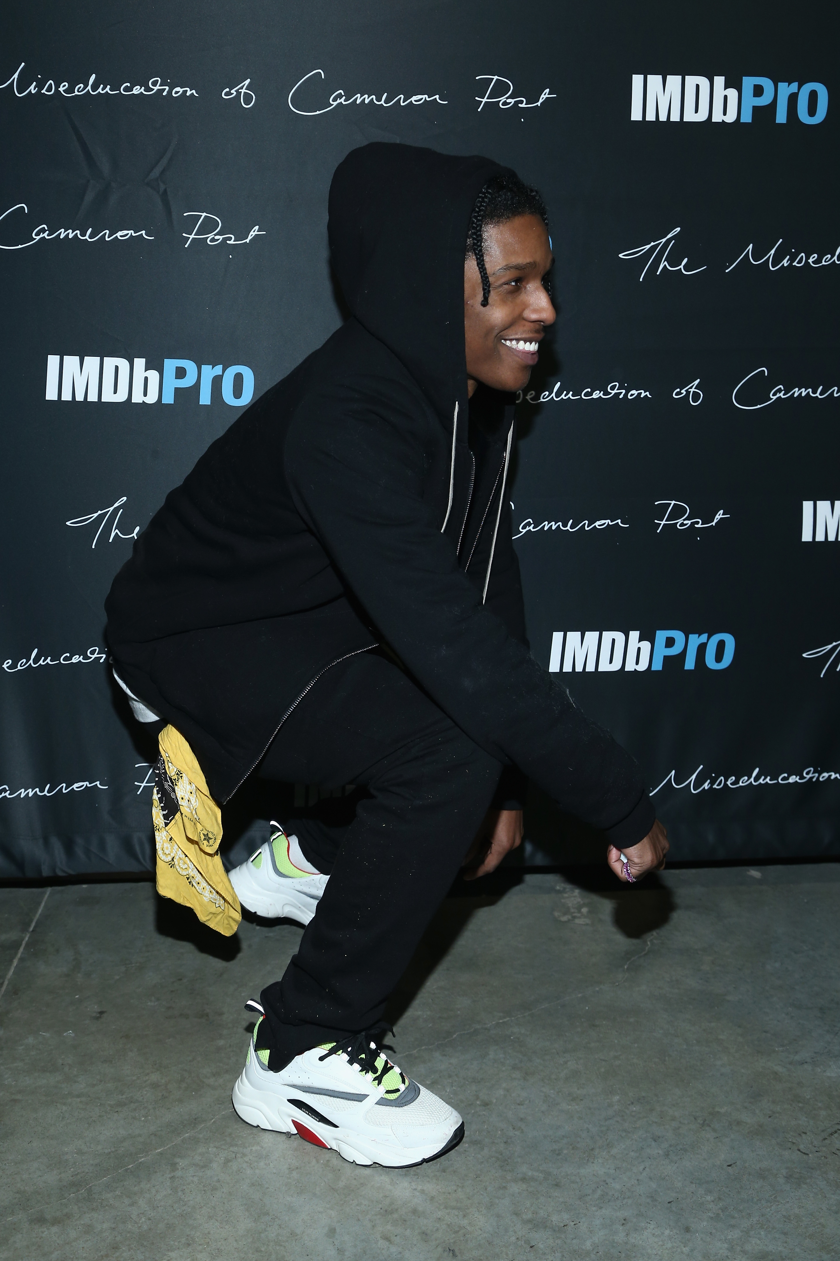 PARK CITY, UT – JANUARY 22  Rapper A AP Rocky attends The IMDbPro Party to  Celebrate the Premiere of  The Miseducation of Cameron Post  and Launch of  ... b03ca4e324d