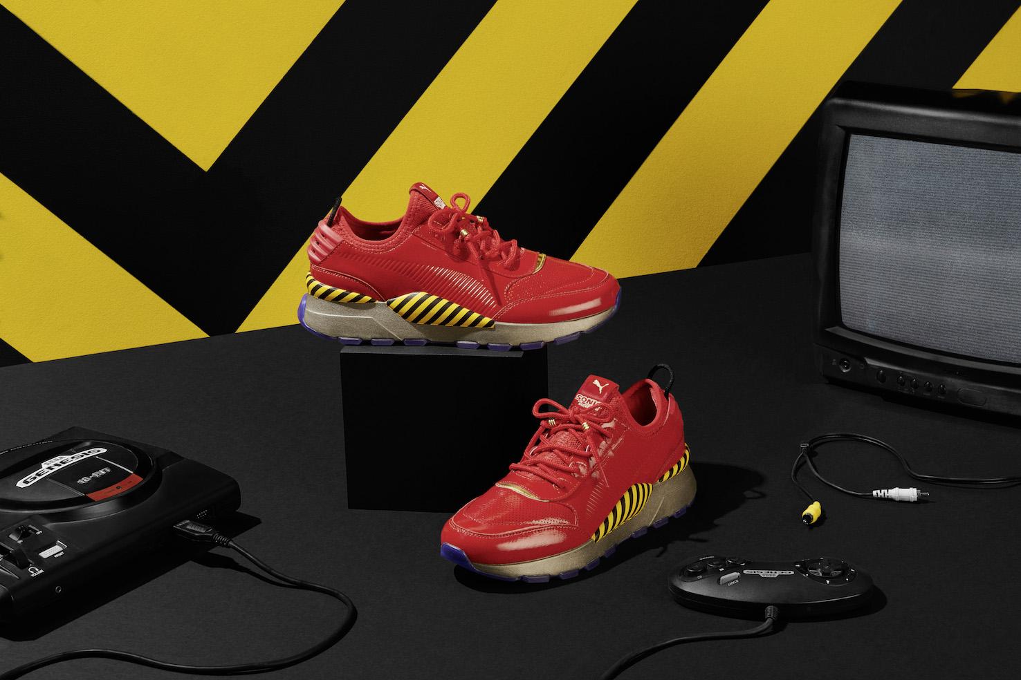 La suola comprende una gomma rossa traslucente ed in basso il luogo Sonic. Sull etichetta  è specificato il logo di collaborazione ed RS-0 99cf2cdcf87