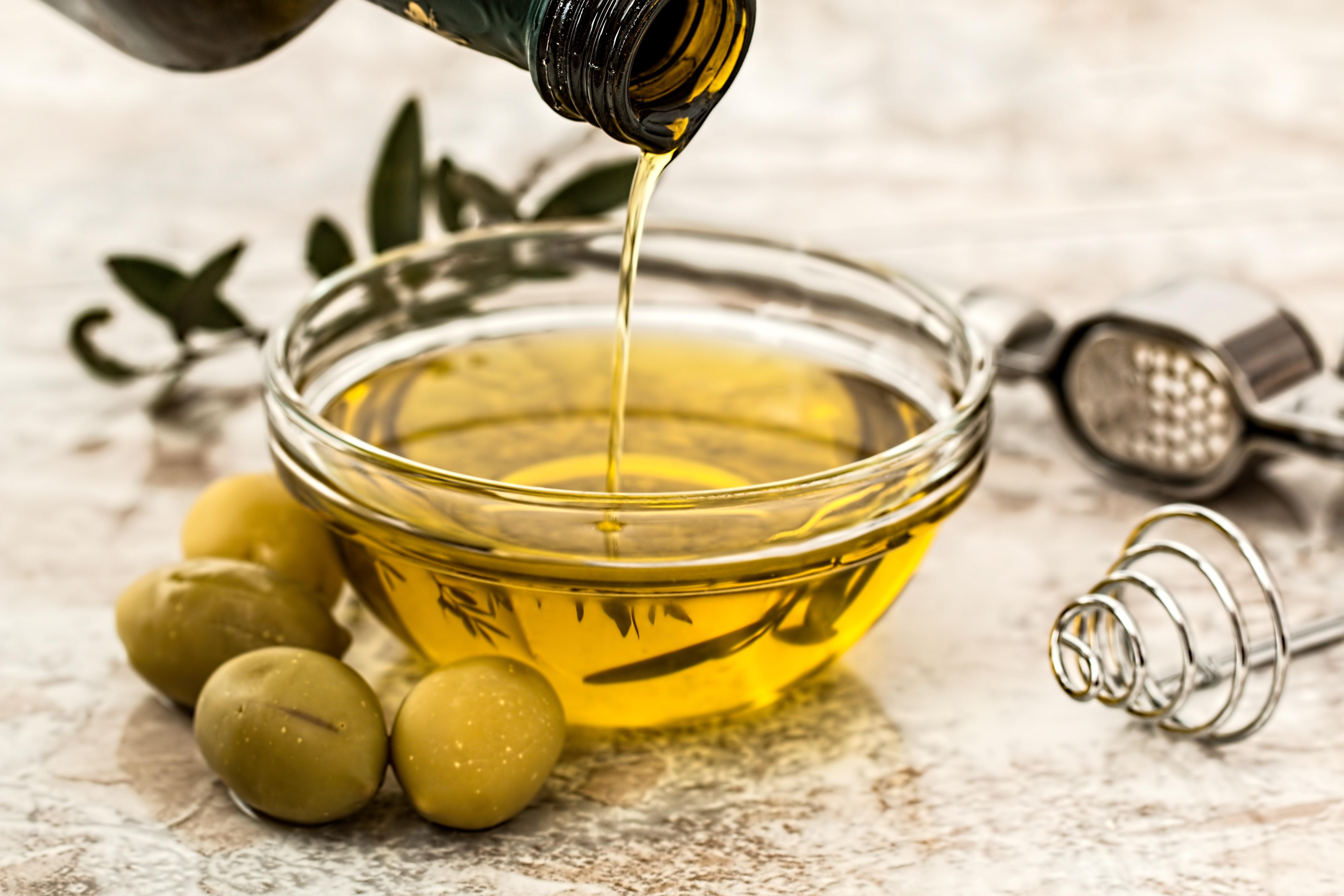 olio d'oliva maschera