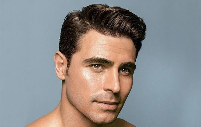Taglio di capelli uomo con riga laterale