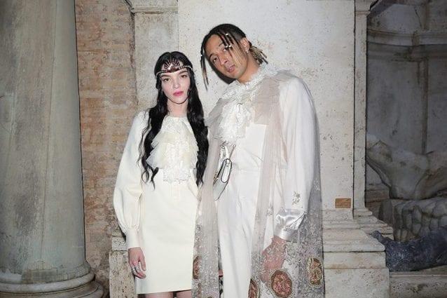 Ghali e Mariacarla Boscono