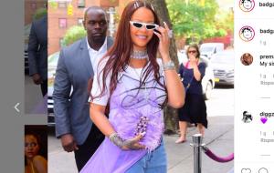 Rihanna colpevole di aver rievocato il vestito sopra i pantaloni. From 2000, with love