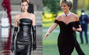 """La Shayk come Lady D: i loro """"vestiti della vendetta"""" a distanza di 25 anni"""