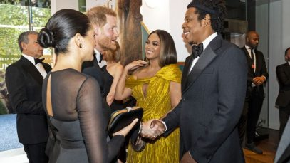 Meghan Markle incontra Beyoncé alla prima del Re Leone