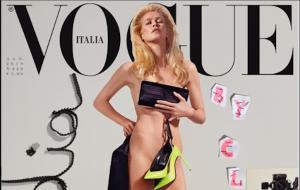 Claudia Schiffer fotografa sé stessa nuda per la copertina di Vogue