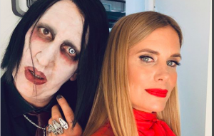 Filippa Lagerback e Marilyn Manson insieme: la foto più Halloween del 2019