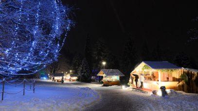 Mercatini di Natale 2019 Il parco dell'hotel Imperial con gli stand