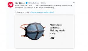 New Balance mascherine