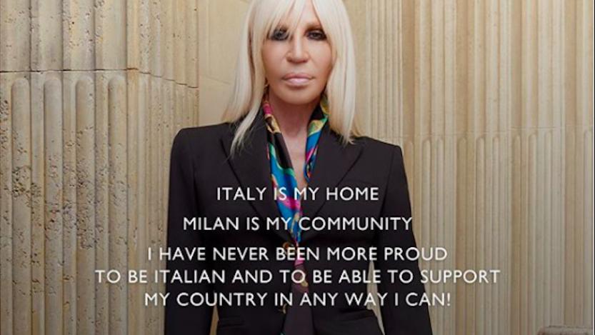 Coronavirus, Versace dona 500.000 $: «Sono una barzelletta. Potete fare di meglio»