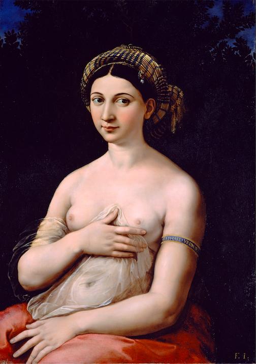 Anniversario morte Raffaello, 500 anni dopo viene censurata la sua Fornarina