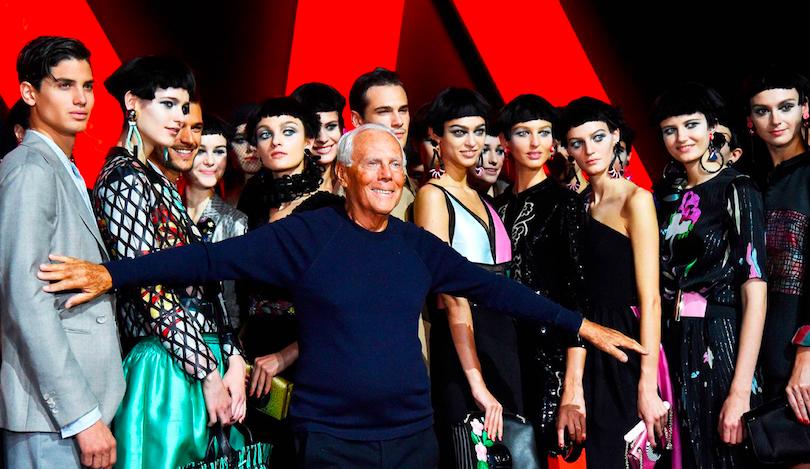 Giorgio Armani sfida la crisi economica: «Sposto le sfilate da Parigi a Milano»