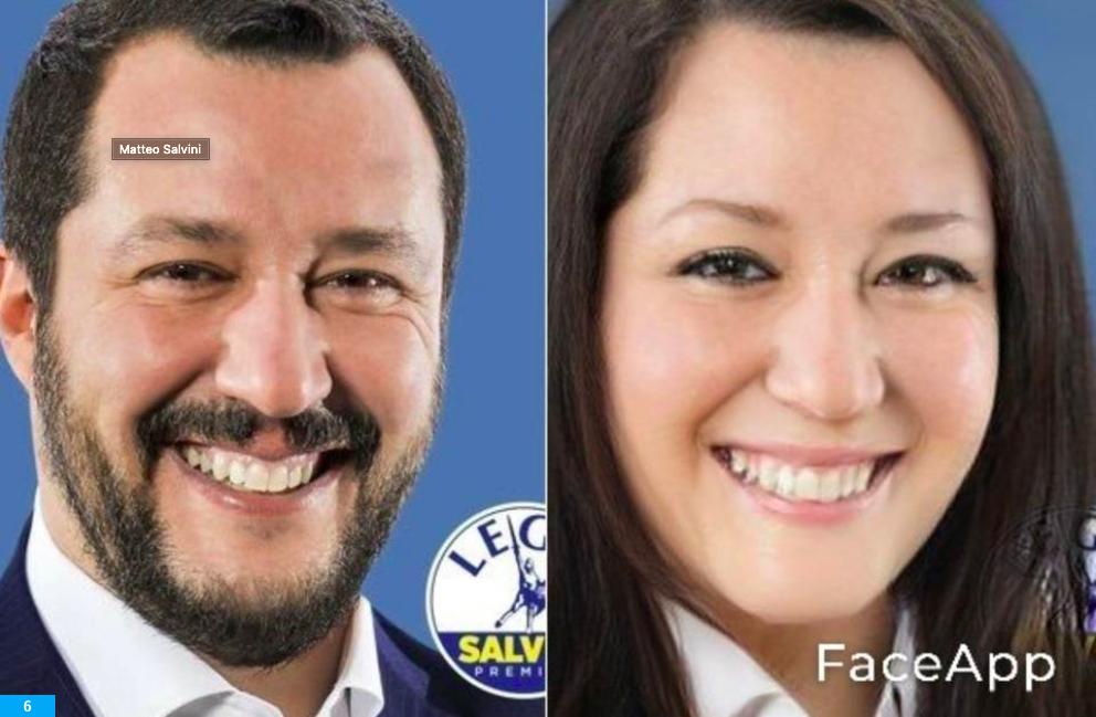 FaceApp: da Conte a Salvini, dalla Jolie a Rihanna. Tutte le star che hanno cambiato sesso