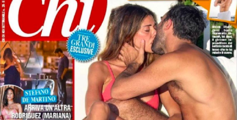Belen Rodriguez sbaciucchia un uomo che non è Stefano De Martino