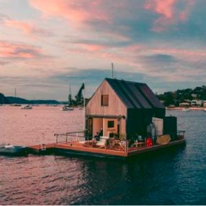 Villa di lusso galleggiante. Lilypad Palm Beach è il luogo dei sogni