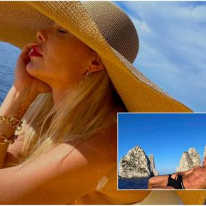 Ilary Blasi e Francesco Totti battaglia Instagram. In barca a Capri è guerra aperta