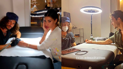"""Belen Rodriguez, il tatuaggio """"di coppia"""" con Antonino Spinalbese. Una parola che racchiude tutto"""