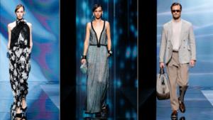 Giorgio Armani primavera/estate 2021. Collezione ispirata al lockdown: look rilassati e pigiama-style