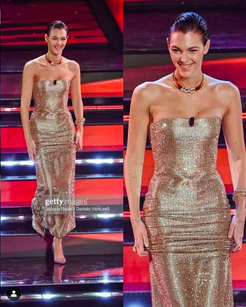 Sanremo 2021, Vittoria Ceretti look: da Valentino a Versace, passando per Armani