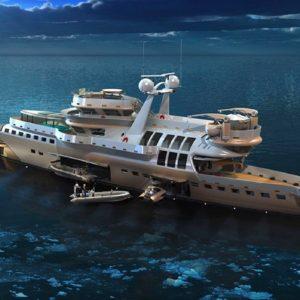 Yacht di lusso, l'Arctic Owl tra scienza e sfarzo. Piscina e spa sul flybridge: immenso
