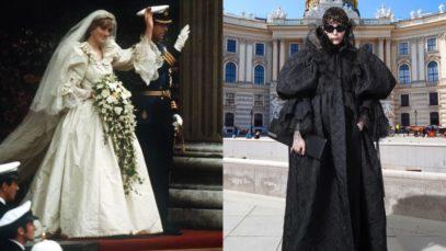 Balenciaga, l'abito da sposa di Lady Diana reinventato in stile gotico. Un vero capolavoro