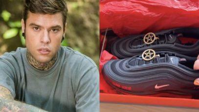 Fedez, le Satan Shoes (scarpe del diavolo): 900 euro e una goccia di sangue nella suola