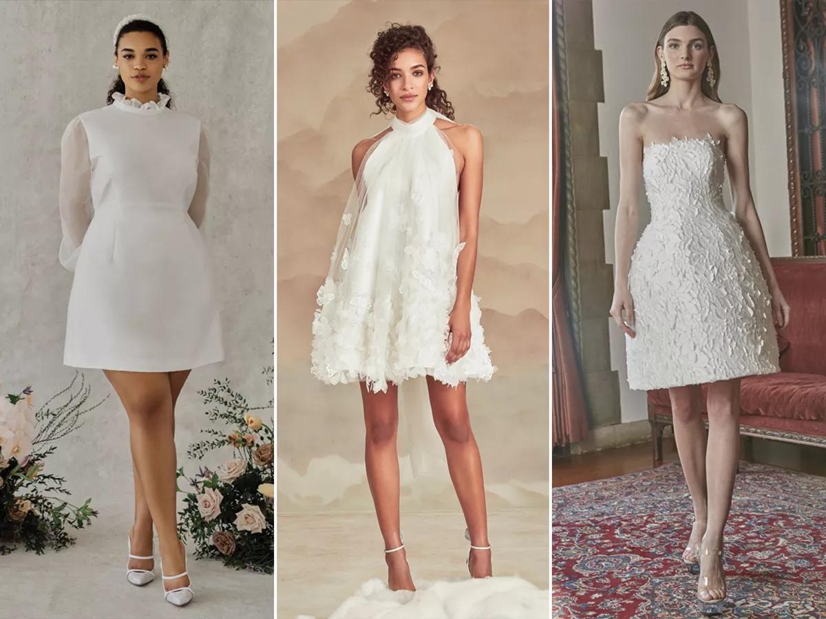 abito corto da sposa