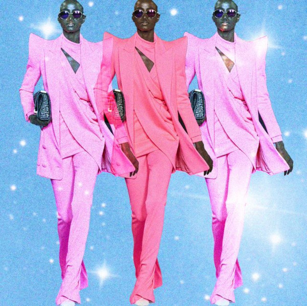 completo da donna rosa