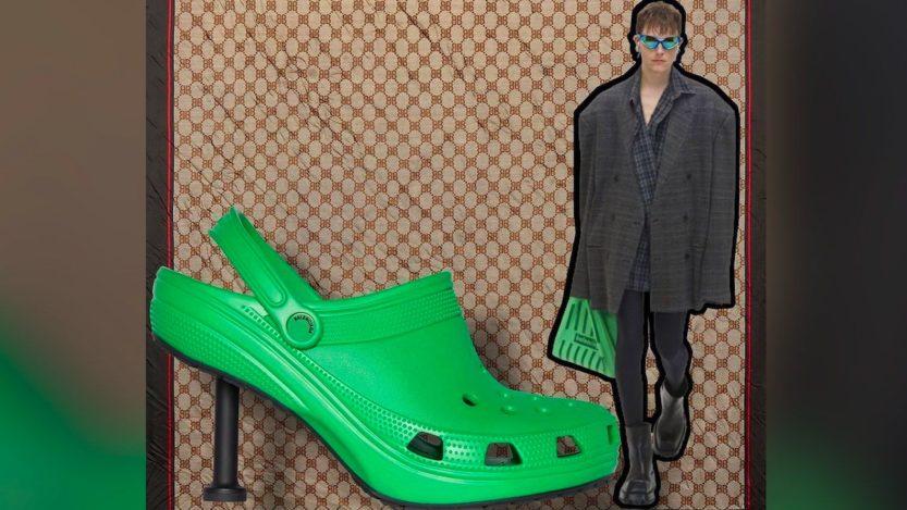Crocs Balenciaga, lo zoccolo in gomma ora ha il tacco ed è super lusso