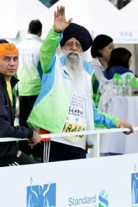 Fauja Singh alla maratona di Hong Kong