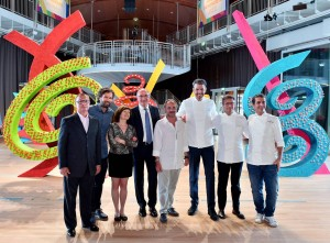 Ospiti all'inaugurazione di UniCredit Pavilion