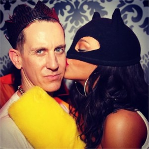 Jeremy Scott e Rihanna al party Moschino