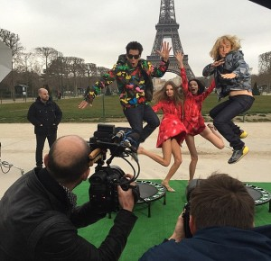 Ben Stiller e Owen Wilson, shooting Zoolander 2 Parigi