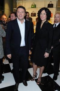 Matteo Renzi all'opening Prada a Firenze