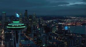 Seattle vista dalla casa di Christian Grey