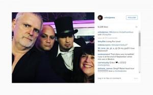 E.L. James e James Foley al concerto di Madonna
