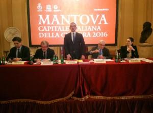 Presentazione alla Scala di Mantova Capitale Italiana della Cultura 2016