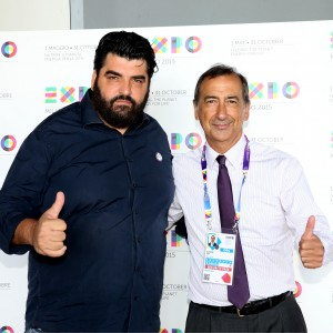 Antonino Cannavacciuolo e Giuseppe Sala