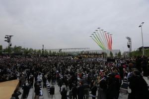 Frecce Tricolore all'apertura di Expo Milano