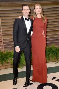 Adam Levine e Behati Prinsloo al party Vanity Fair