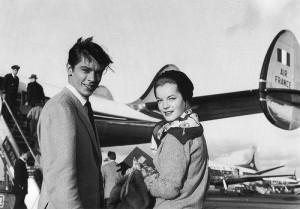 Alain Delon e Romy Schneider