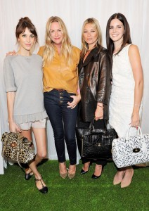 Emma Hill con Alexa Chung, Kate Moss e Lana Del Rey